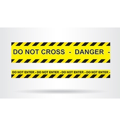 Caution danger and police tape attention vector image