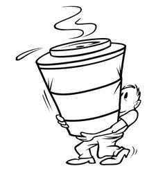 coffee large bw vector image