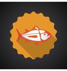 Summer Travel Sea Fish flat icon vector image