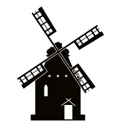 windmill sign vector image vector image