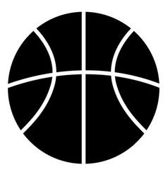 basketball ball black silhouette icon vector image vector image