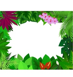 forest frame vector image vector image