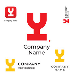 modern wine logo creative identity brand and app vector image