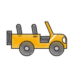 safari jeep isolated icon vector image vector image