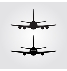 Aircraft or Airplane Icon vector image