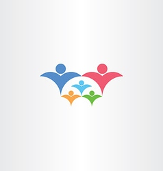 family rich with kids icon third child concept vector image vector image