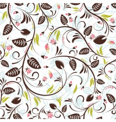 floral pattern with ladybug vector image vector image