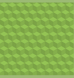 greenery pattern with volume cubes vector image