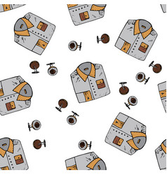 seamless pattern with man symbols vector image vector image