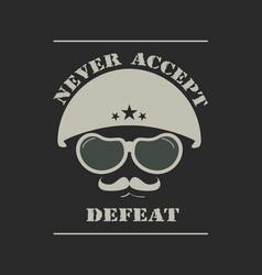 army helmet emblem vector image