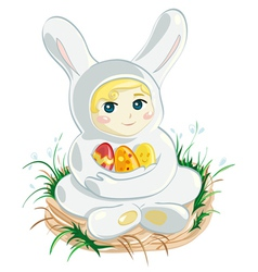 Baby Easter Bunny vector image