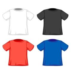 Design models of t-shirts vector image vector image