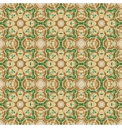 Green and brown seamless pattern vector image