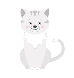 grey cat for children vector image