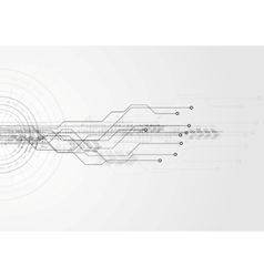Grey hi-tech circuit board background vector