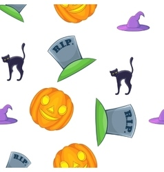 Halloween pattern cartoon style vector