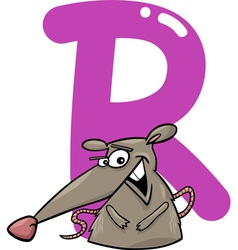 R for rat vector image