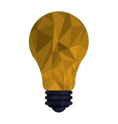 regular lightbulb with polygon texture icon vector image
