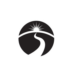 river logo template icon vector image