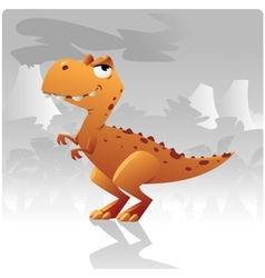 t-rex dinosaur vector image