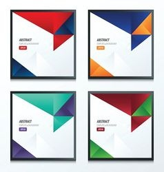 2 color of 4 Styles template triangle set vector