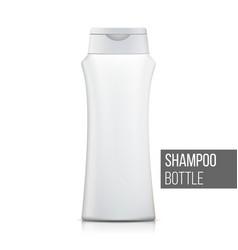 3d plastic bottle shampoo clean plastic vector