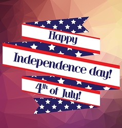 4th of july Independence day ribbon background for vector