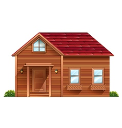 A wooden house vector image