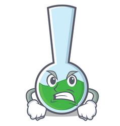 Angry tube laboratory character cartoon vector