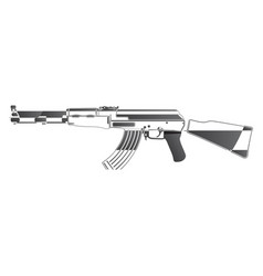 Assault rifle image vector