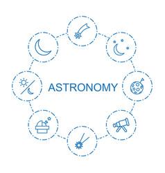 Astronomy icons vector