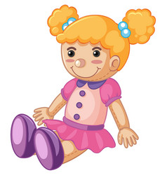 Baby doll with happy face vector