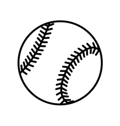 Baseball ball sign flat vector image