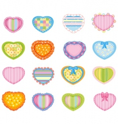big set of pretty hearts vector image