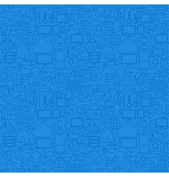 Blue Line Internet of Things Seamless Pattern vector