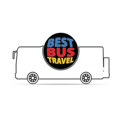 Bus travel color vector