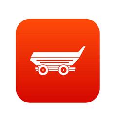 car trailer icon digital red vector image