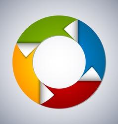 Circle web design element vector