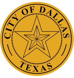Coat of arms of dallas in texas in united states vector