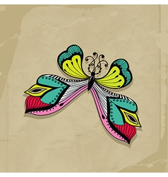 Colorful abstract of butterfly Retro butterfly des vector