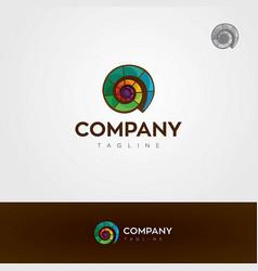 colorful seashell logo vector image