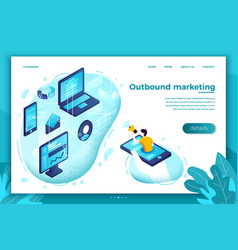 concept outbound marketing man with speaker vector image