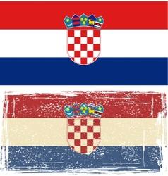 Croatian grunge flag vector