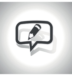Curved pencil message icon vector