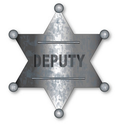 Deputy badge vector
