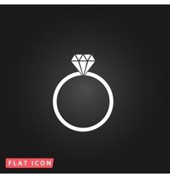 Diamond engagement ring icon vector