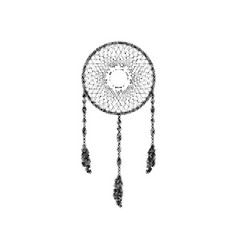 dream catcher sign black icon from many vector image