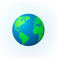 Earth in the form of a globe earth planet icon vector