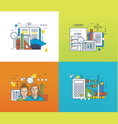 Education learning tools strategic planning vector