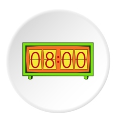 Electronic watch icon cartoon style vector